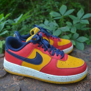 Nike Air Force 1 Nike ID Red Yellow Speckled